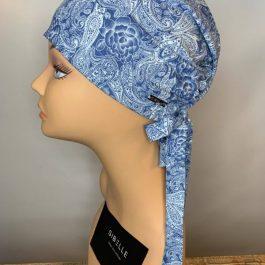 Foulard Sibelle à corde couleur bleu