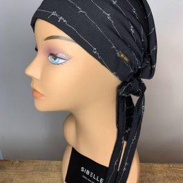 Foulard Sibelle à corde couleur noir